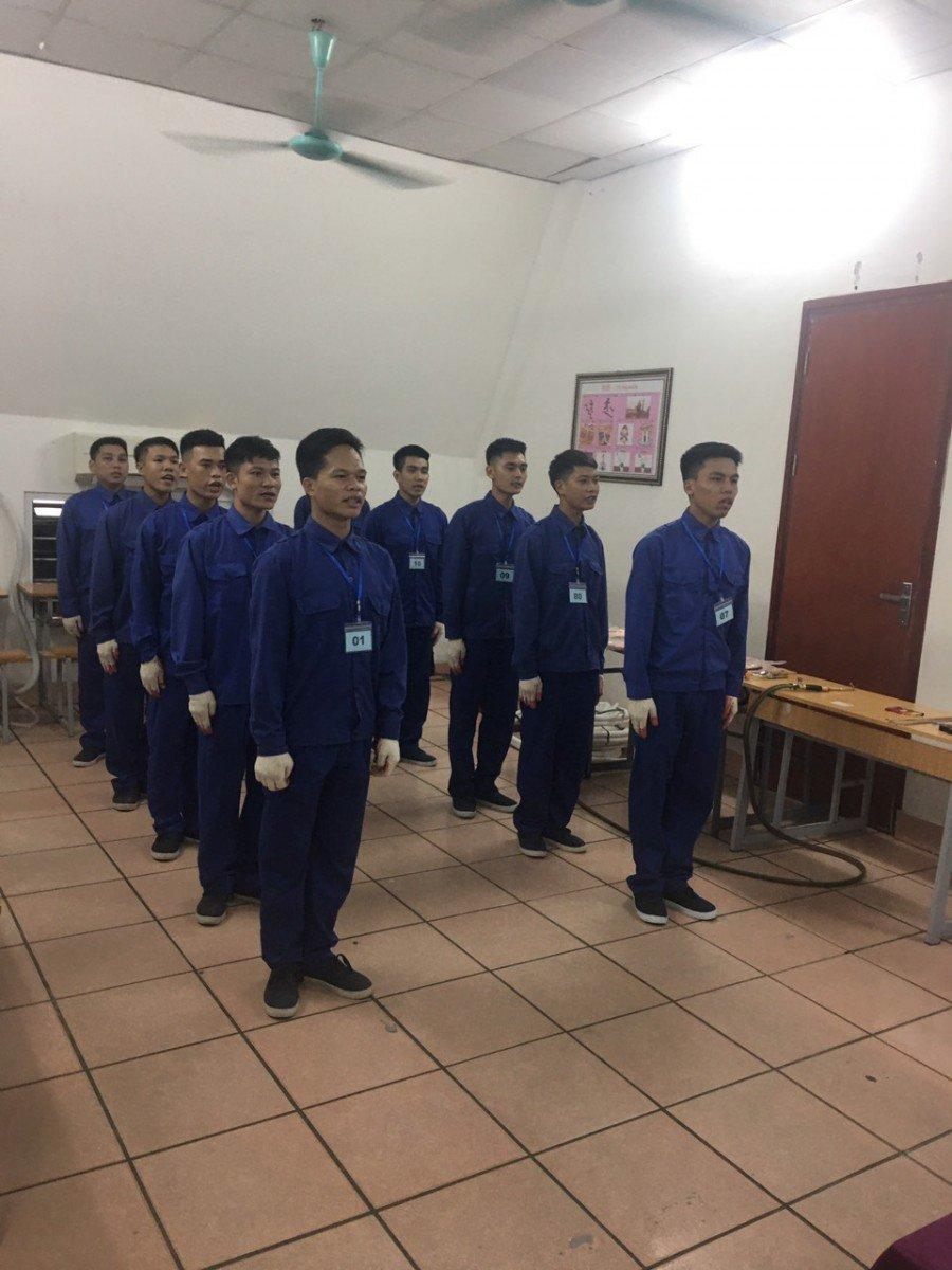 Các học viên của trung tâm dạy nghề điện lạnh bách khoa